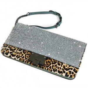 JIMMY CHOO Glitter/Leopard Purse - NWT